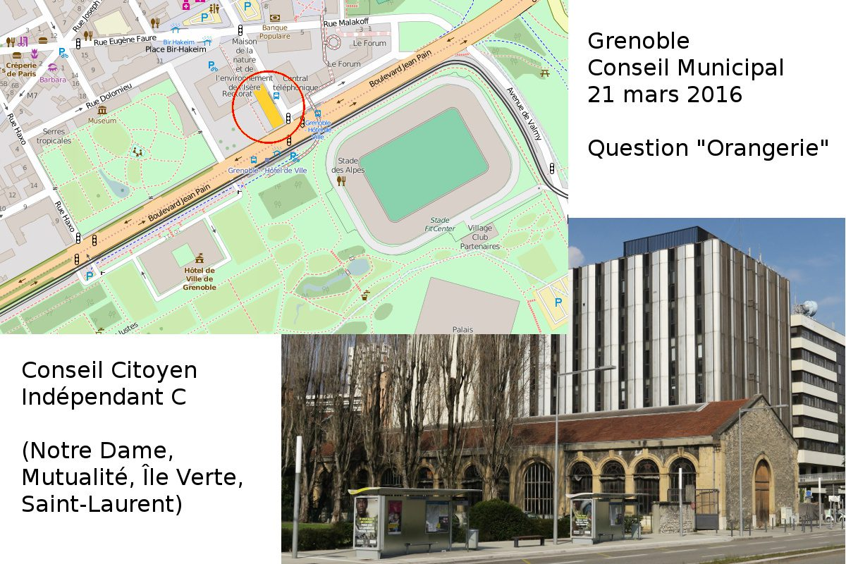 Le projet de l'Orangerie en question