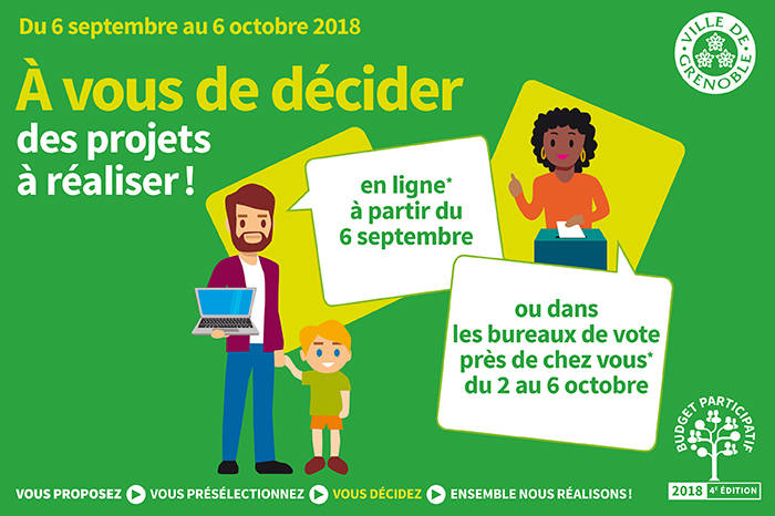 Budget participatif 2018… Aux votes!!!